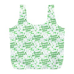 Saint Patrick Motif Pattern Full Print Recycle Bags (L)