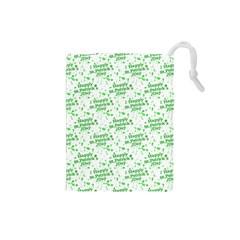 Saint Patrick Motif Pattern Drawstring Pouches (Small)