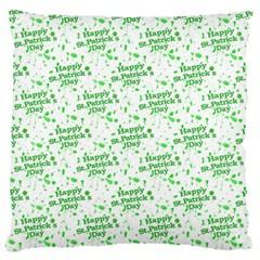 Saint Patrick Motif Pattern Large Flano Cushion Case (One Side)
