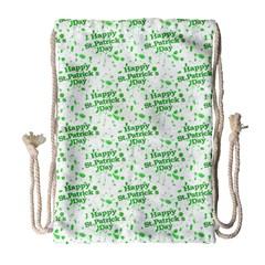 Saint Patrick Motif Pattern Drawstring Bag (Large)