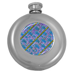 A  Golden Starry Gift I Have Round Hip Flask (5 Oz)