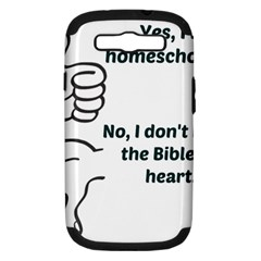 Bible No Samsung Galaxy S Iii Hardshell Case (pc+silicone)