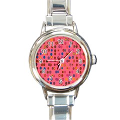 Circles Abstract Circle Colors Round Italian Charm Watch