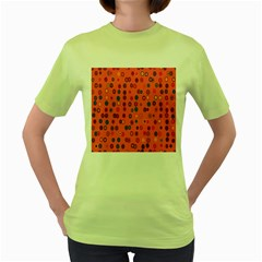 Circles Abstract Circle Colors Women s Green T Shirt