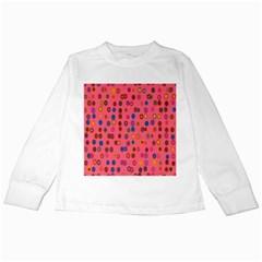Circles Abstract Circle Colors Kids Long Sleeve T-Shirts