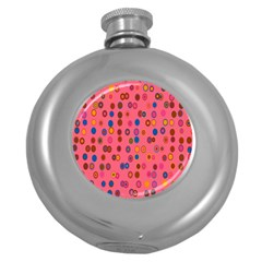 Circles Abstract Circle Colors Round Hip Flask (5 oz)