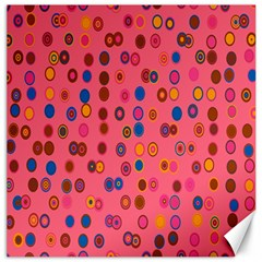 Circles Abstract Circle Colors Canvas 16  x 16