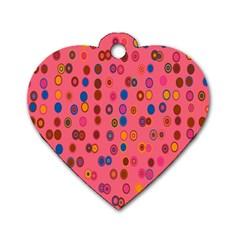 Circles Abstract Circle Colors Dog Tag Heart (Two Sides)