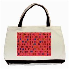 Circles Abstract Circle Colors Basic Tote Bag (Two Sides)