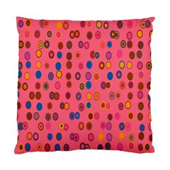 Circles Abstract Circle Colors Standard Cushion Case (two Sides)