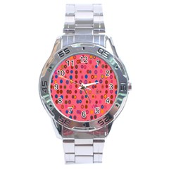 Circles Abstract Circle Colors Stainless Steel Analogue Watch