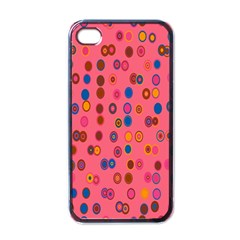 Circles Abstract Circle Colors Apple iPhone 4 Case (Black)