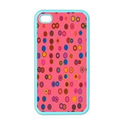 Circles Abstract Circle Colors Apple iPhone 4 Case (Color)