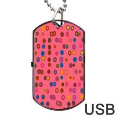 Circles Abstract Circle Colors Dog Tag USB Flash (Two Sides)