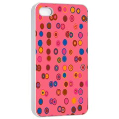 Circles Abstract Circle Colors Apple iPhone 4/4s Seamless Case (White)