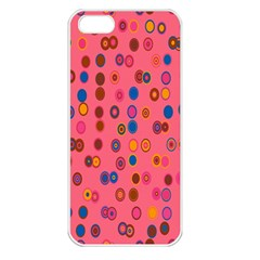 Circles Abstract Circle Colors Apple Iphone 5 Seamless Case (white)