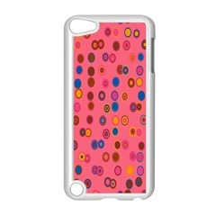 Circles Abstract Circle Colors Apple iPod Touch 5 Case (White)