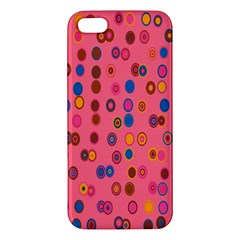 Circles Abstract Circle Colors Apple Iphone 5 Premium Hardshell Case