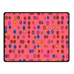 Circles Abstract Circle Colors Double Sided Fleece Blanket (small)