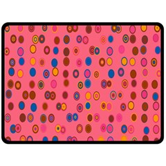 Circles Abstract Circle Colors Double Sided Fleece Blanket (large)