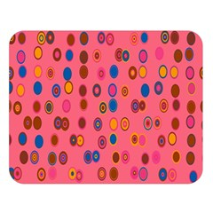 Circles Abstract Circle Colors Double Sided Flano Blanket (Large)