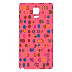 Circles Abstract Circle Colors Galaxy Note 4 Back Case