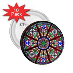 Church Window Window Rosette 2 25  Buttons (10 Pack)