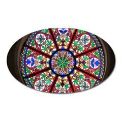 Church Window Window Rosette Oval Magnet