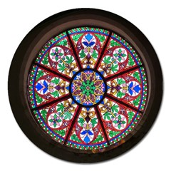 Church Window Window Rosette Magnet 5  (round)
