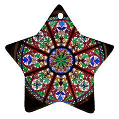 Church Window Window Rosette Star Ornament (Two Sides)
