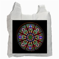 Church Window Window Rosette Recycle Bag (Two Side)