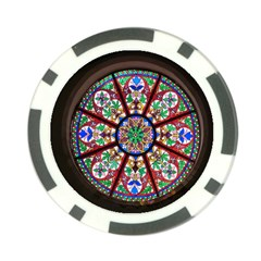 Church Window Window Rosette Poker Chip Card Guard (10 pack)