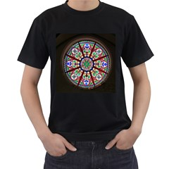 Church Window Window Rosette Men s T-Shirt (Black)