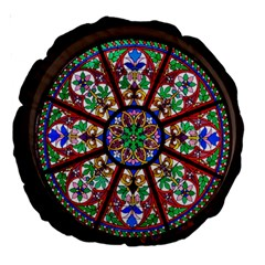 Church Window Window Rosette Large 18  Premium Round Cushions