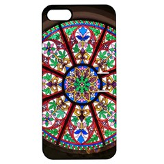 Church Window Window Rosette Apple Iphone 5 Hardshell Case With Stand