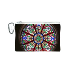 Church Window Window Rosette Canvas Cosmetic Bag (s)