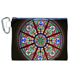 Church Window Window Rosette Canvas Cosmetic Bag (XL)