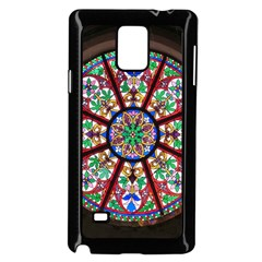 Church Window Window Rosette Samsung Galaxy Note 4 Case (black)