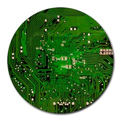 Circuit Board Round Mousepads