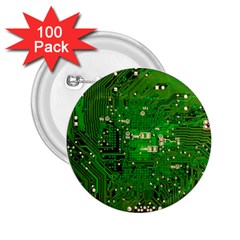 Circuit Board 2.25  Buttons (100 pack)
