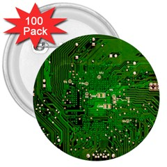 Circuit Board 3  Buttons (100 pack)