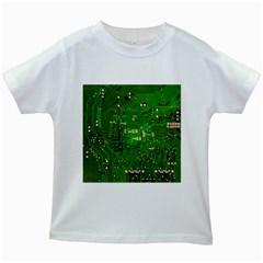 Circuit Board Kids White T-Shirts