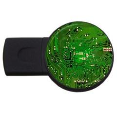 Circuit Board USB Flash Drive Round (1 GB)