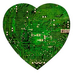 Circuit Board Jigsaw Puzzle (heart)