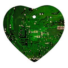 Circuit Board Heart Ornament (Two Sides)
