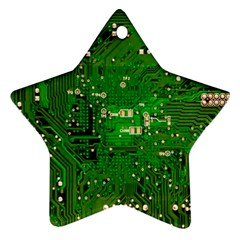 Circuit Board Star Ornament (Two Sides)