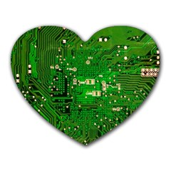 Circuit Board Heart Mousepads