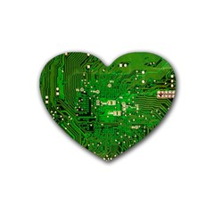 Circuit Board Heart Coaster (4 Pack)