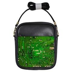 Circuit Board Girls Sling Bags