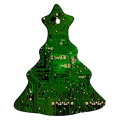 Circuit Board Christmas Tree Ornament (Two Sides)